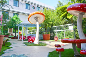 Play space design toadstools