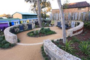 Therapeutic landscape design walled area