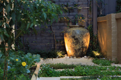 Courtyard landscape design water feature