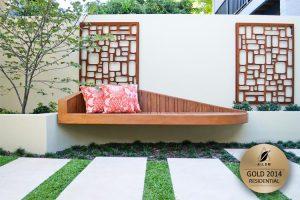 modern timber seat