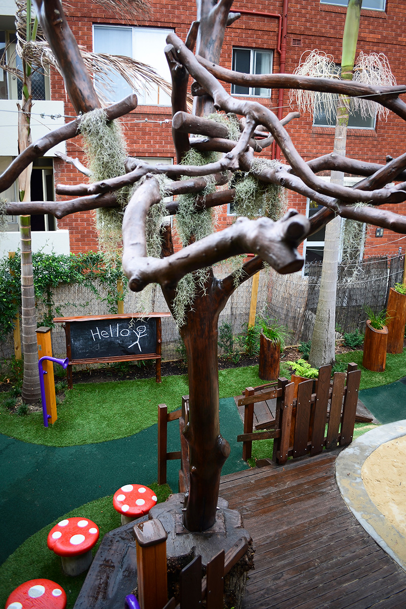 Play space design feature tree