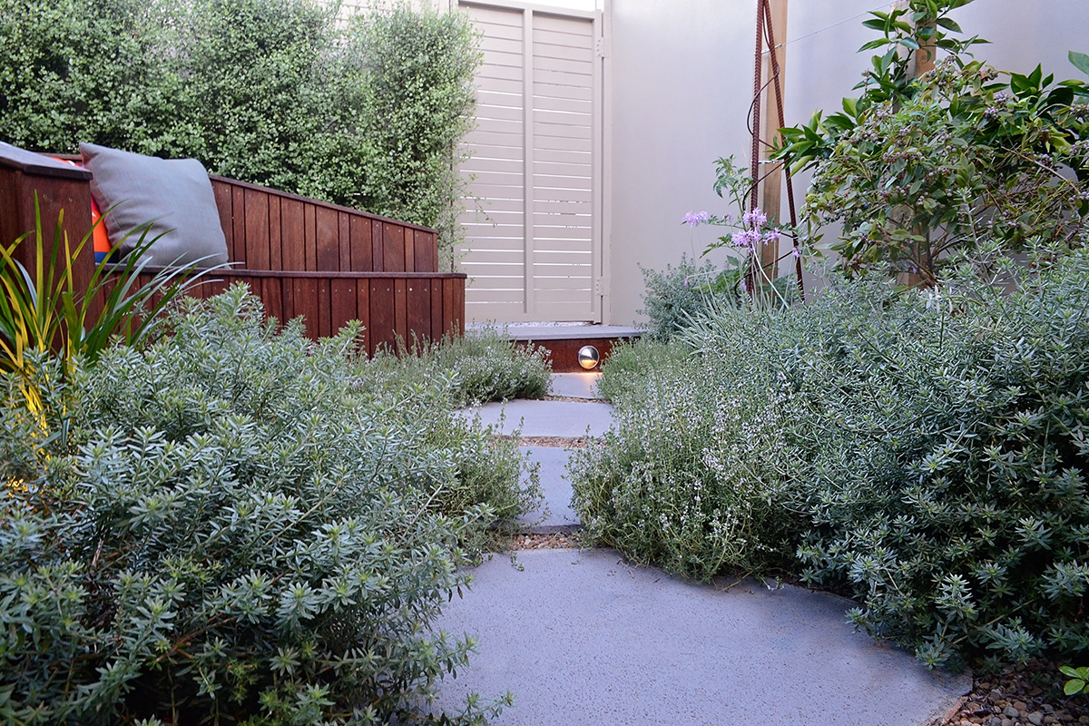 Courtyard landscape design path