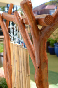 Play space design wooden chimes
