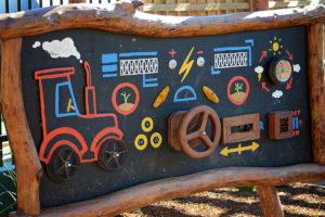 Community garden playground feature