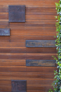 Courtyard landscape design wall feature