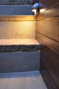 Courtyard landscape design stair lights