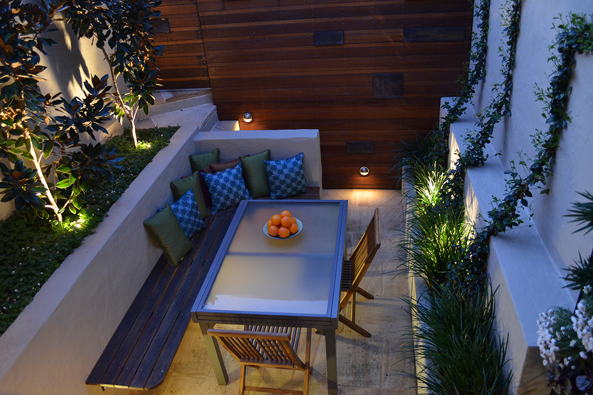Courtyard landscape design overview