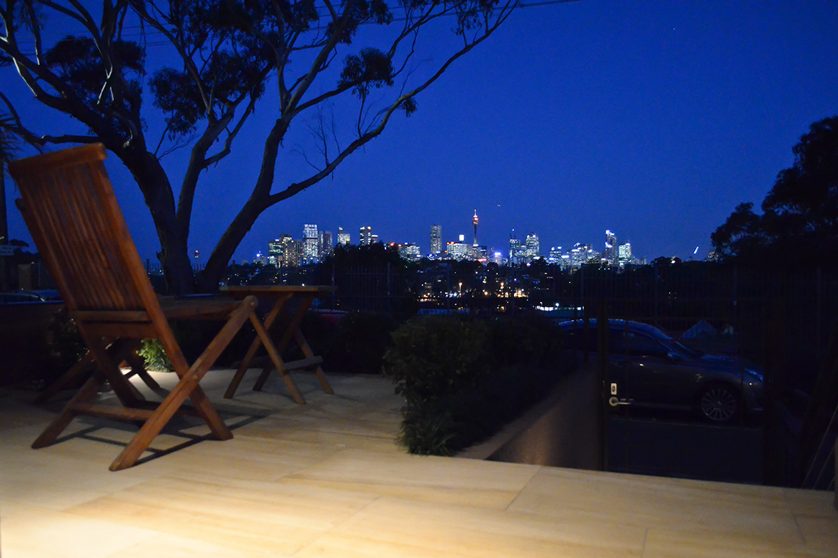 Courtyard landscape design Sydney view