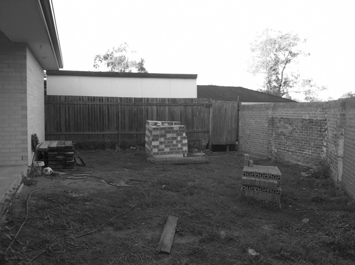 Family Garden before makeover
