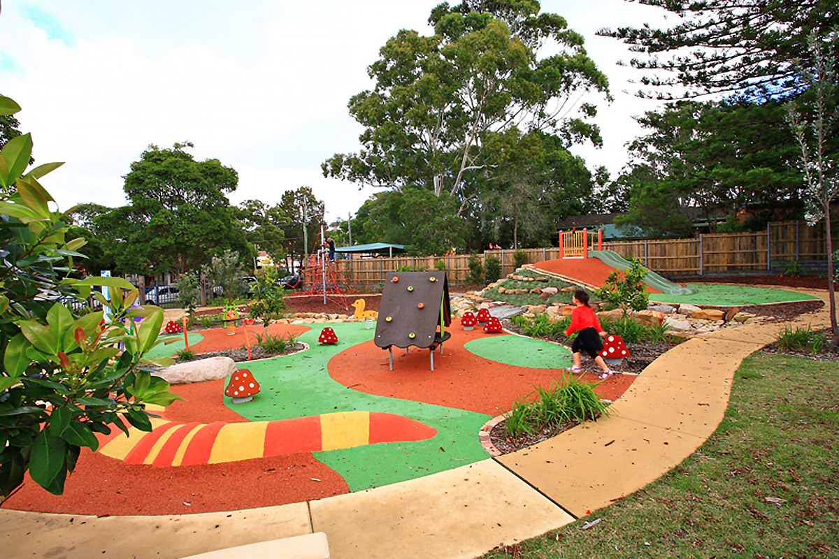Overview image of the playground