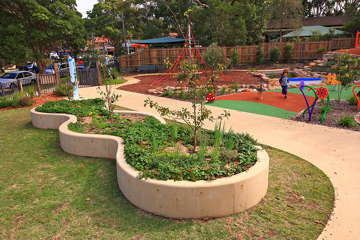 Community garden and playground