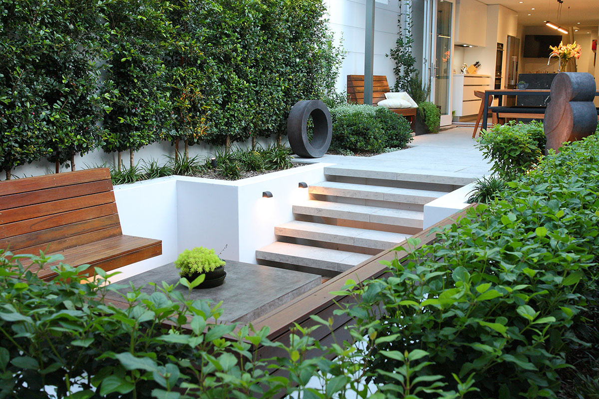 Moorepark road sunken seating landscape design