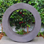 Courtyard landscape design sculpture