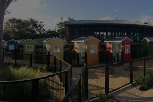 Landscape architecture pet houses at RSPCA