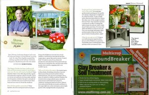 feature on magazine, garden clinic, outhouse design
