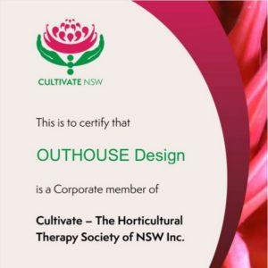 Cultivate NSW membership certificate