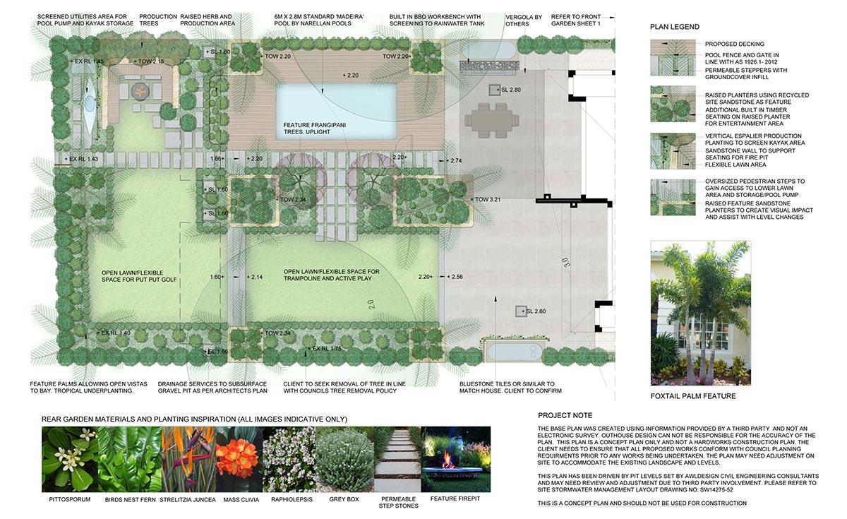 Image of a Landscape Design Concept Plan