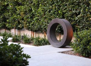 Garden sculpture landcape design