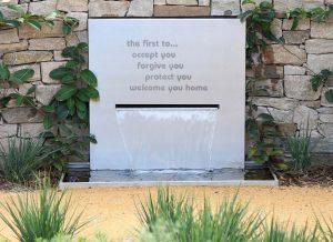memorial garden water feature at RSPCA
