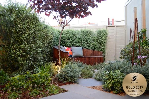 Award winning relaxing courtyard with lush planting