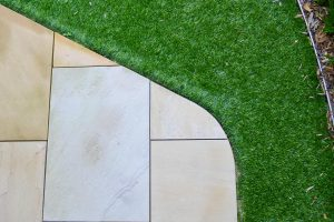 Grass and paving finish