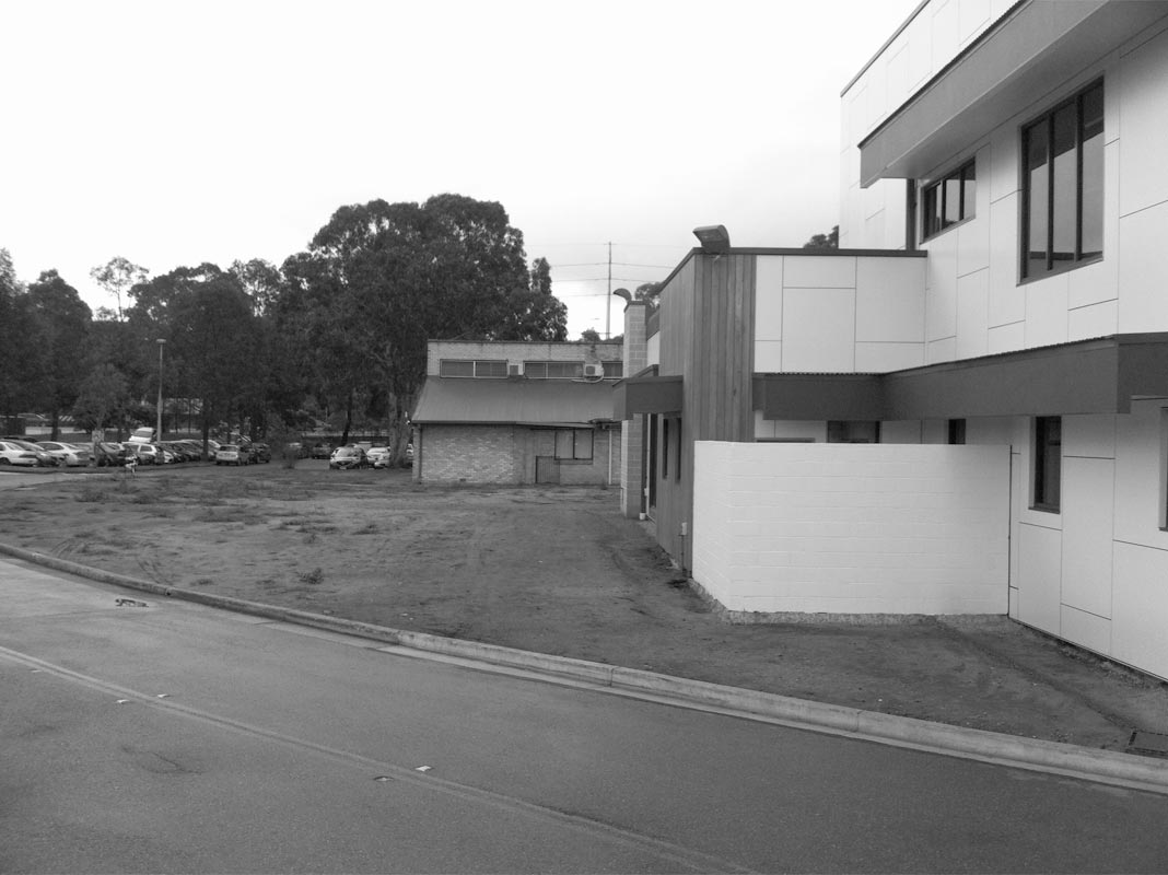 Before image of the RSPCA head office front entrance at Yagoona