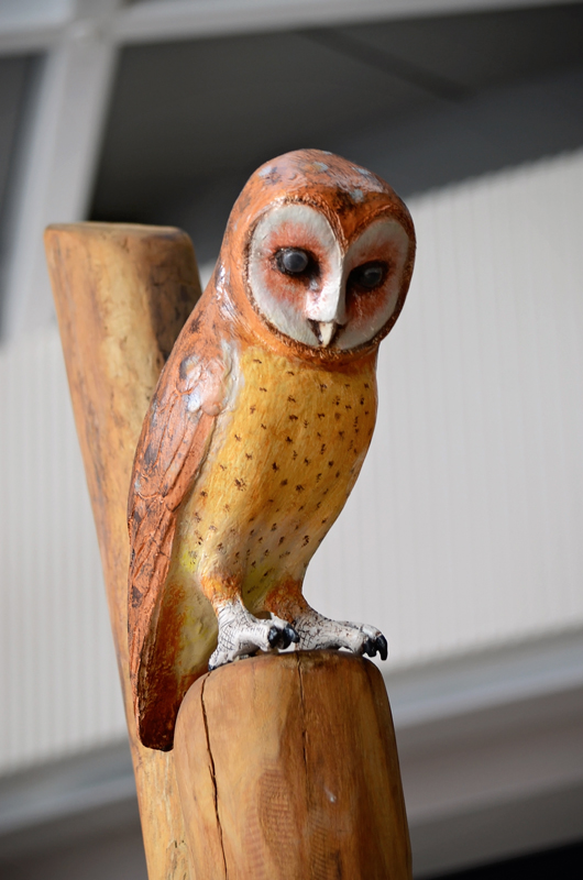Timber carved owl