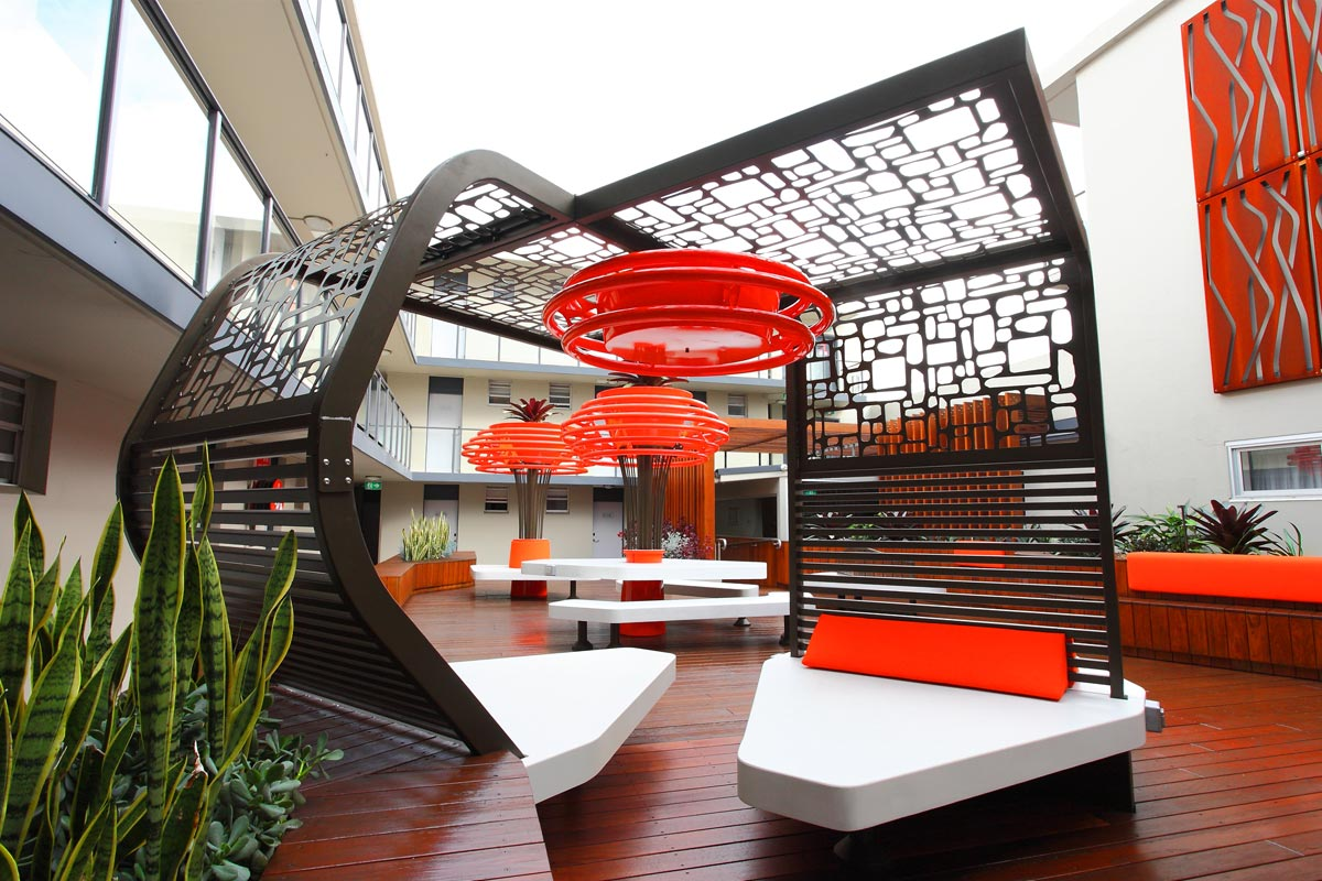 open space, courtyard design, hotel design, garden plants, hotel plants, inner courtyard ideas, commercial landscape