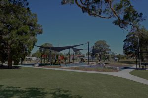 Outdoor playground with exercise equipment for all abilities