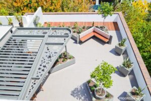 The overall garden comes together from above