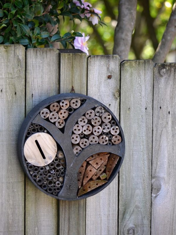 Bee attracting garden art