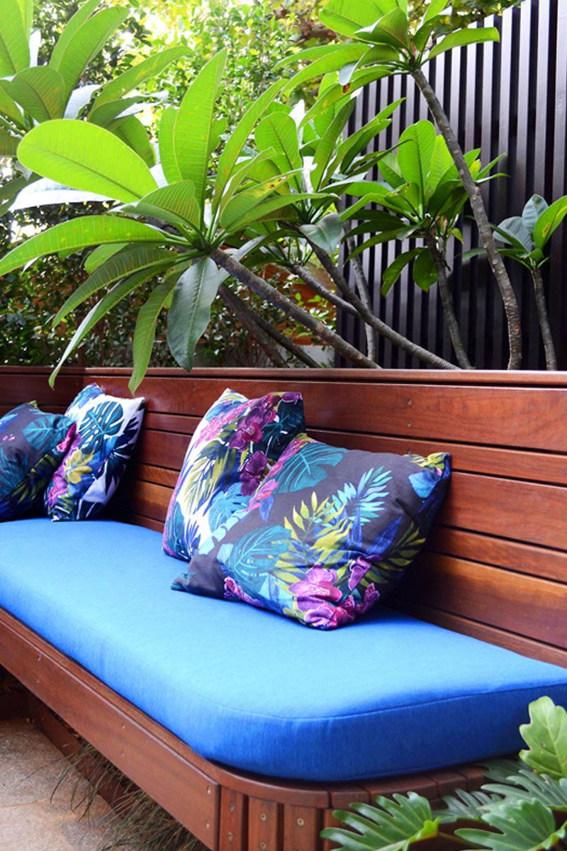 Bright floral cushions