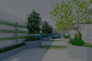 3D Perspective image of the main entrance into the kennels and cattery