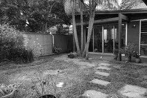 Before image of back garden