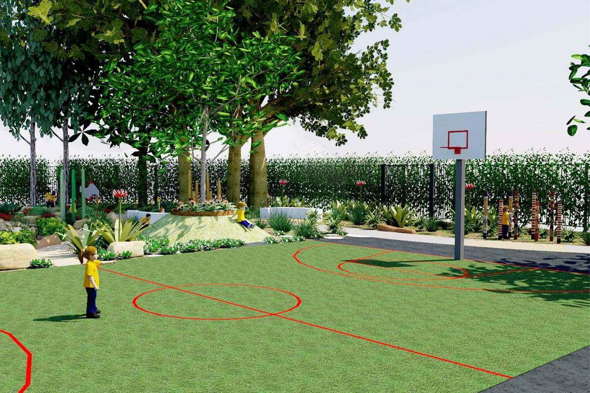 Multi-purpose futsal and basketball court