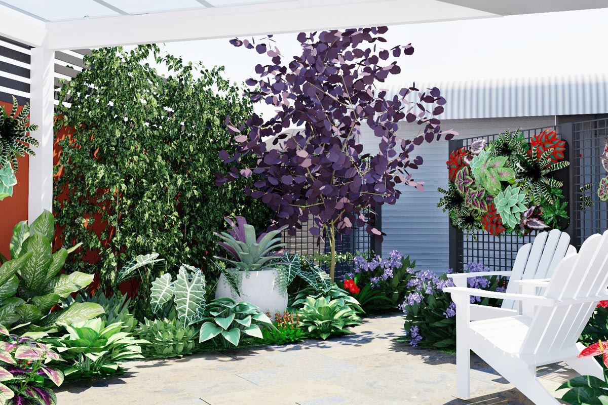 Colours and textures using planting