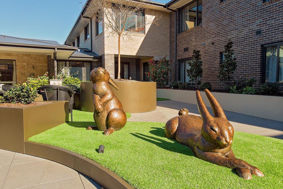 Rabbit sculptures